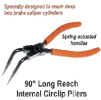 90o Long Reach Internal Circlip Pliers
